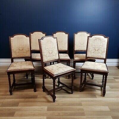FREE DELIVERY - Six Antique French Dining Chairs, Excellent Condition 1890