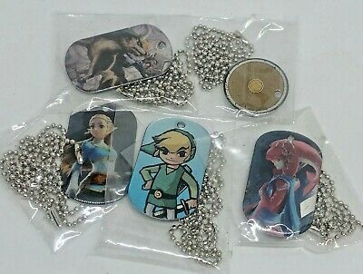 Bulk Lot 5 X The Legend of Zelda Collector Dog Tags From Fun Packs Nintendo