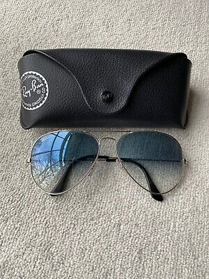Ray Ban sunglasses aviator Style Blue Lenses