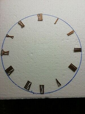 reclaimed Brass Vintage Clock face Roman numerals/NUMBERS  spares/ crafting 1-12