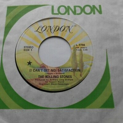 THE ROLLING STONES Satisfaction / The under Ex CANADA '70s Reissue BLACK STAR 45