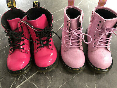 2 Pairs Girls Pink Dr Martens Boots Infant Size 7 (EU24)