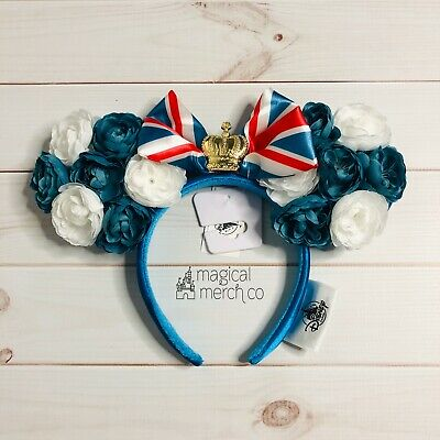 2020 Disney Parks Epcot United Kingdom UK Flowers Minnie Ears Royal Crown