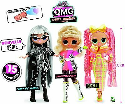 Lol Surprise OMG  DOLL LIGHTS nuovissime luminose Speedster, Groovy Babe, Dazzle
