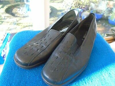 Ladies Hotter Comfort Concepts Size 8  Black Flat Shoes -  Slip Ons,New