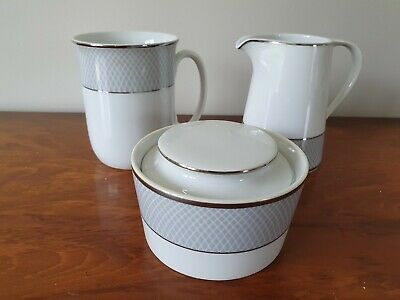 Block Spal 'Grey Dawn' Mug, Lidded Sugar Bowl And Milk Jug