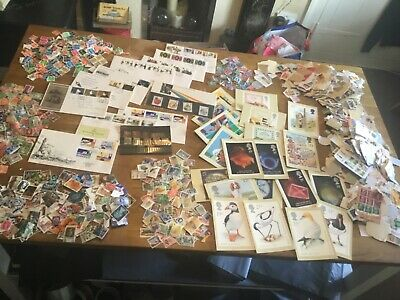 1kg+ GLORY BOX OF British stamps LOTS OF STUFF the great BRITISH sorter pax