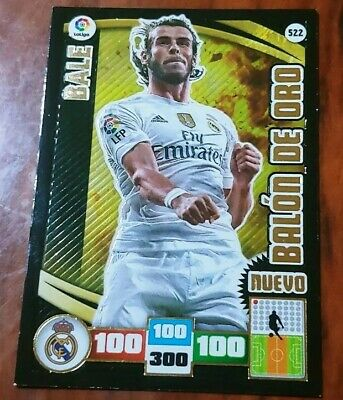 522 BALE nuevo BALON DE ORO Real Madrid ADRENALYN XL 2015-16 Panini