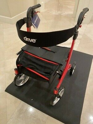 Drive Medical Nitro Euro Style Walker Rollator Red NEW! FREE SHIPPING!