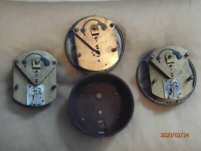 3 Mantel or wall clock movements, Smiths, for spares or repair .