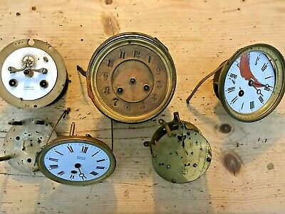 ** Lot Of French Antique Clock Movements **