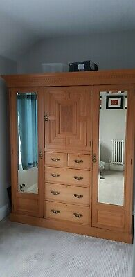 Edwardian Triple Mirrored Wardrobe
