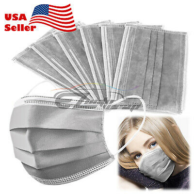 25 PCS Disposable Face Mask Medical Surgical Flu Virus Protection Earloop 3-Ply