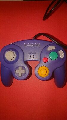 Manette officielle d'origine pour Nintendo GameCube GC violette (purple) TESTÉE
