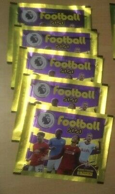 5x Panini's Football 2020 –  Premier League Sticker Collection Packs (5 Packs)