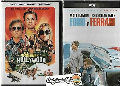 Ford V Ferrari + Once Upon A Time In Hollywood Dvd 2-Movie ✔☆Mint☆✔ No Digital