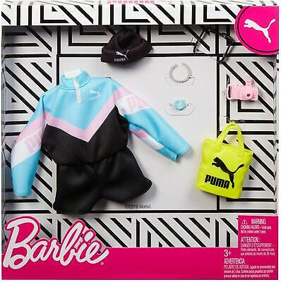 Barbie Doll Clothes PUMA Fashion Outfit Pack Blue Pink Workout Jumper Deluxe 7pc