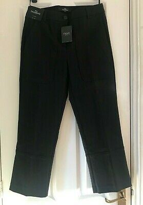 BNWT NEXT Tailoring Black Cropped Trousers - Size 6 Regular - RRP £40