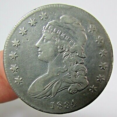 1834 Capped Bust Silver Half Dollar 50c Coin