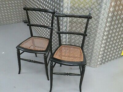 Genuine Ebonised Chairs with CANE SEAT BEDROOM ~ DINING~ DESK CHAIR