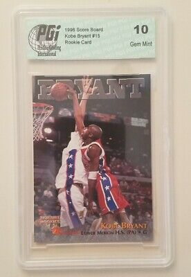 1996 Score Board Kobe Bryant #15 Rookie Card GRADED 10 GEM MINT PGI