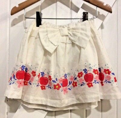 Disney Store Girls Age 3 years Skirt Snow White theme apple print fully lined