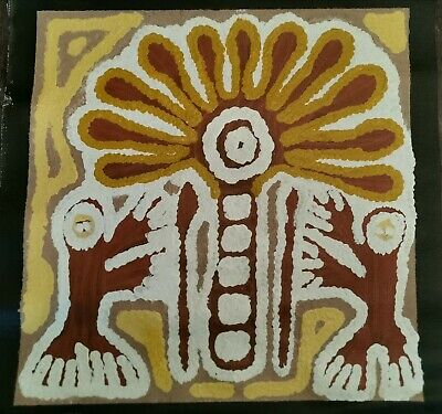 LINDA SYDDICK , Highly Collectable Aboriginal Art,, 35x 35cm. Witch Doctor