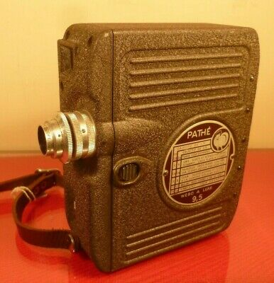 PATHE WEBO A-LUXE 9.5mm CINE CAMERA & CASE, 1950s, WORKING ORDER