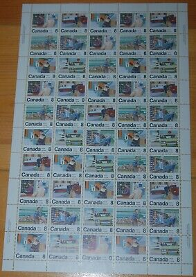 Weeda Canada 639a VF MNH unfolded pane of 50, 8c Letter Carrier issue CV $41