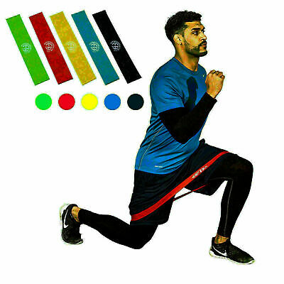 Resistance Bands Loop Exercise Sport Fitness Health Home Gym Yoga Latex Set of 5