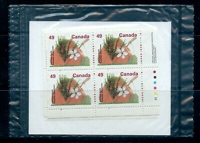 Weeda Canada 1364i VF MNH M/S PBs in pack, 49c Delicious Apple on HP CV $50