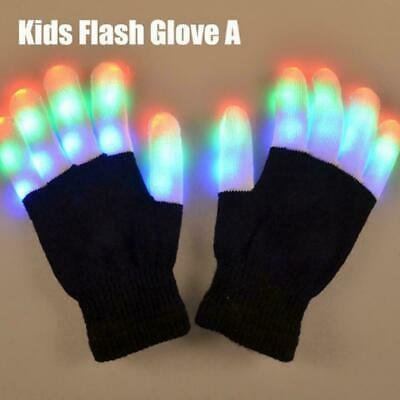 Magic Adult Kids Led Glove Flashing Supplies Thermal Gloves Best Children G Y9I8