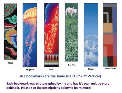 "Bookmarks - Original, Unique, Fun, Colorful & Recycled Matte - 1.5"" x 7"""