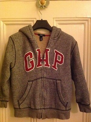 Gap child's grey fleece lined hoodie