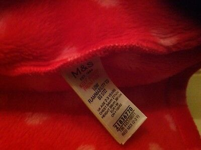 M&S CHILDS Heart fleece dressing gown 2-3 years old excellent condition