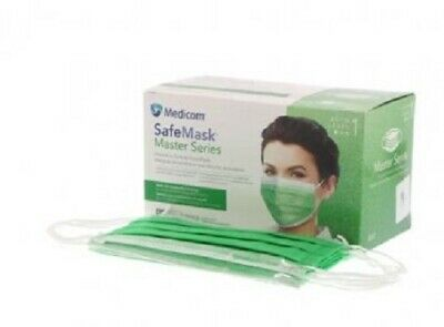 Medicom Safe Mask Earloop Face Mask ASTM Level 1 Box/50 Corona Surgical USA