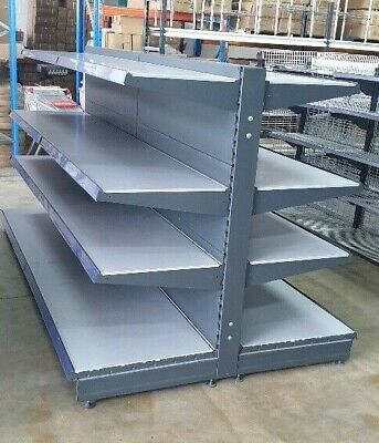 VERY CHEAP Brand new double sided deep shelf gondola shelving made in Germany