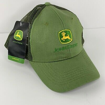 John Deere Hat Trucker Mesh New With Tag Green Cap