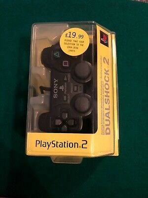 Official Sony PlayStation 2 DualShock 2 Controller Black PS2 Boxed Complete