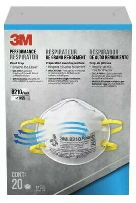20ct 3M 8210+ N95 Particulate Respirator Face Mask - NEW SEALED - FAST SHIPPING!