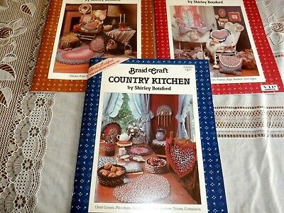 Lot 3 Braid Craft Craft Pattern Books, Shirley Botsford, Kitchen, Baby