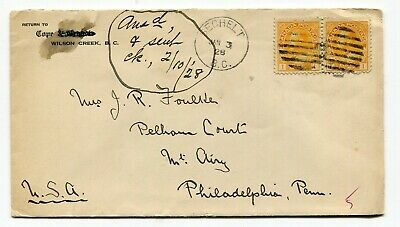 Canada BC British Columbia - Sechelt 1928 CDS Cancel - Admiral Cover to USA