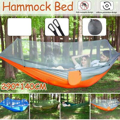 Double Person Travel Outdoor Camping Tent Hanging Hammock Bed Mosquito Net