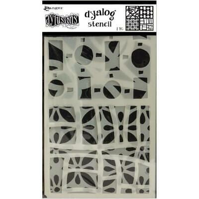 Dylusions Stencils - Dyalog Doodle It Too