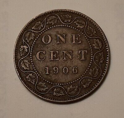 1906 Canada Large One Cent Coin (95% Copper) - King Edward VII