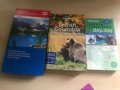British Columbia Lonely Planet Map Canada Parks Pass and Frommers Guide June 20