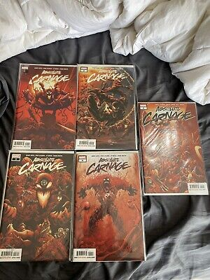 absolute carnage complete set plus all tie ins 30 comics great cond