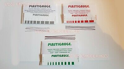 Plastigauge precision bearing clearance mixed set GREEN / RED / GREY Pack of 30