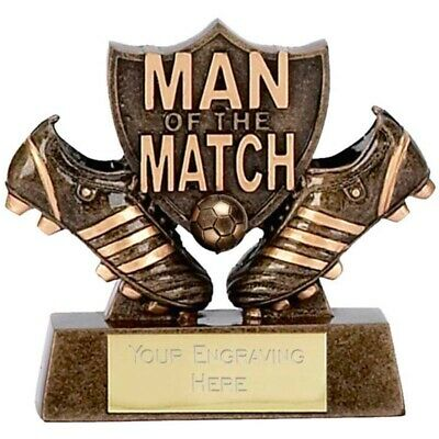 Personalised Engraved Man Of the Match3 Shield Great Player Team Award