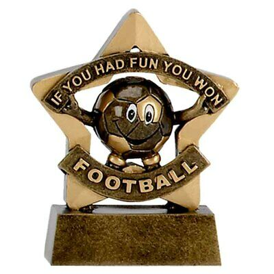 Personalised Engraved Mini Star Football Participation Great Player Team Award